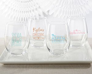 Personalized 15 oz. Stemless Wine Glass - Custom Design image