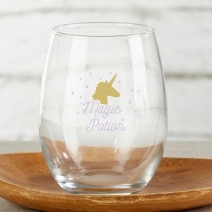 Enchanted Party 15 oz. Stemless Wine Glass - (Set of 4) image