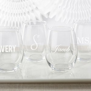 Personalized Engraved 15 oz Stemless Wine Glass image