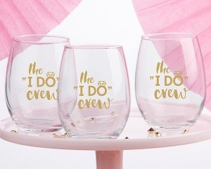 The I Do Crew 15 oz Stemless Wine Glass (Set of 4) image