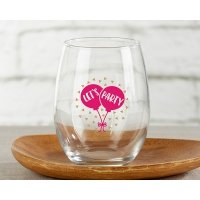 Let's Party 15 oz Stemless Wine Glass (Set of 4)