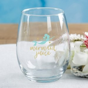 Seaside Escape 15 oz. Stemless Wine Glass - (Set of 4) image