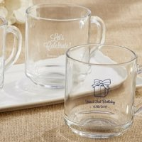 Rise and Shine Glass Coffee Mug Birthday Party Favors