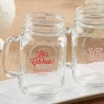 Personalized 16 oz Birthday Party Mason Jar Mug Favors