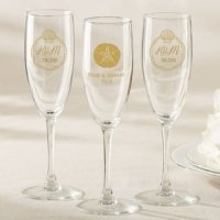 Personalized Beach Tides Champagne Flute Favor