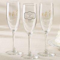 Personalized Classic Design Champagne Flute Wedding Favors