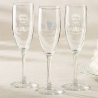 Personalized English Garden Champagne Flute