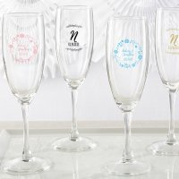 Personalized Ethereal Champagne Flute Favors