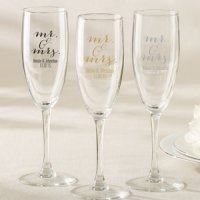 Personalized Mr. & Mrs. Champagne Flute Favor