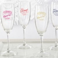 Personalized Party Time Champagne Flute Favors