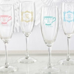 Personalized Tea Time Champagne Flute Favors image