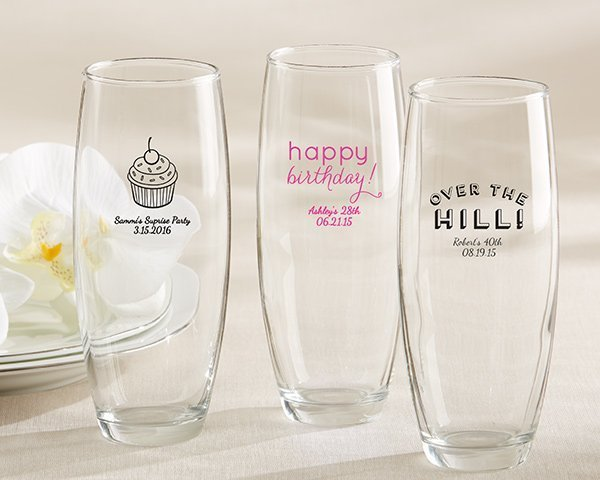 Personalized Disney Wedding Gifts: Personalized Stemless Champagne Birthday Glasses