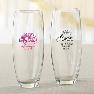 Personalized Birthday For Her 9 oz Stemless Champagne Glass image