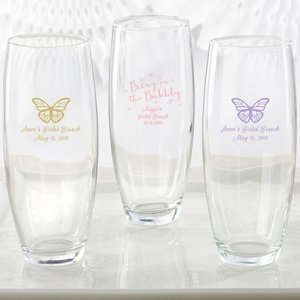 Personalized Bridal Brunch Stemless Champagne Glass image