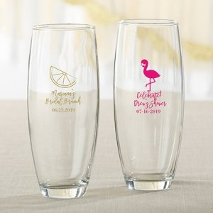 Cheery and Chic Personalized 9 oz Stemless Champagne Glass image