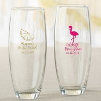 Cheery and Chic Personalized 9 oz Stemless Champagne Glass