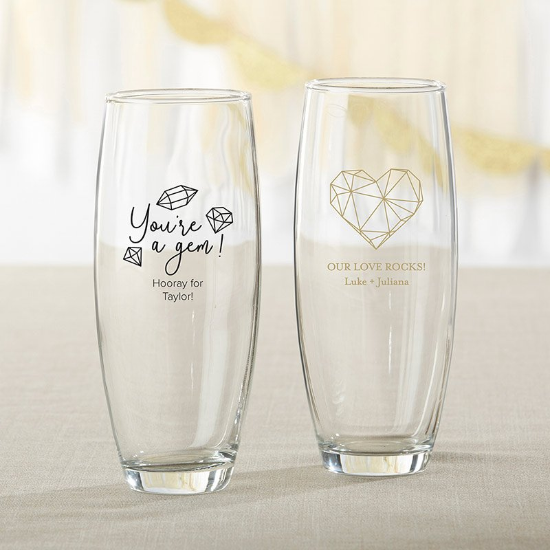 Personalized Elements 9 oz. Stemless Champagne Glass image