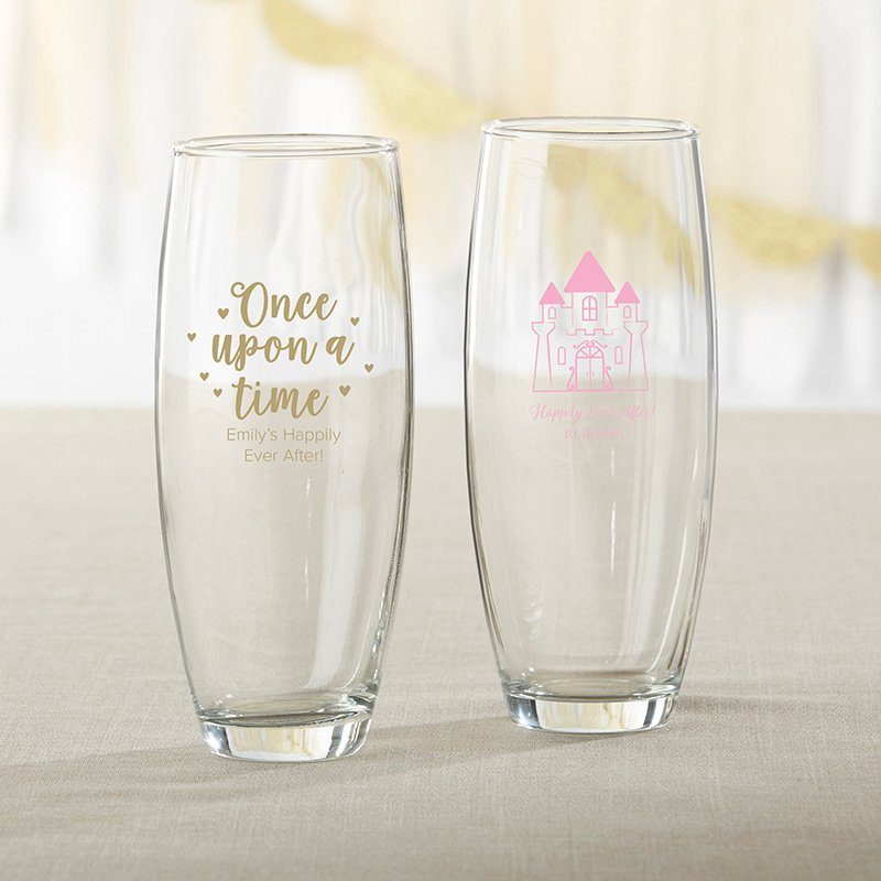 Personalized 9 oz. Stemless Champagne Glass - Princess Party image