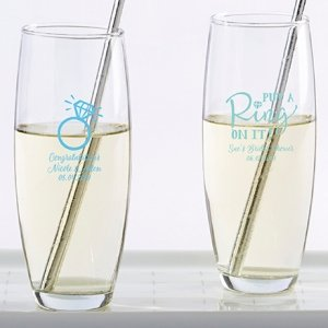 Personalized Something Blue Stemless Champagne Glass image