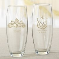 Personalized Indian Jewel Stemless Champagne Glass
