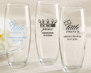 Personalized 9 oz. Stemless Champagne Glass - Little Prince image