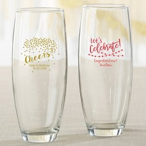 Personalized Party Time 9 oz Stemless Champagne Glass Favors image