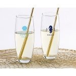 Seaside Escape Personalized 9 oz Stemless Champagne Glass