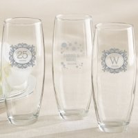 Milestone Silver Personalized Stemless Champagne Glasses