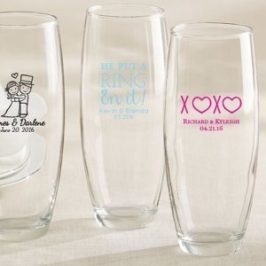 Personalized Stemless Champagne Glass Wedding Favors image