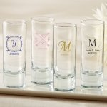 Personalized Tall Shot Glass Wedding Favors
