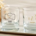 Personalized Classic Theme Rocks Glass Wedding Favors
