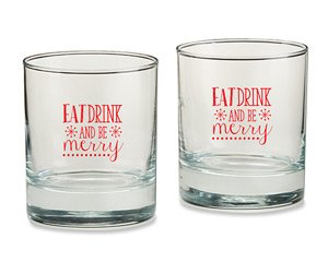 Eat, Drink & Be Merry 9 oz. Rocks Glass (Set of 4) image