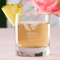 Personalized Pineapples and Palms Rocks Glasses