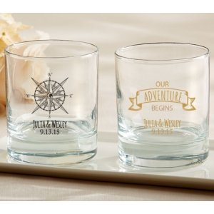 Personalized Travel and Adventure Rocks Glasses image