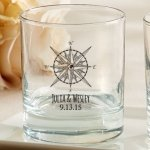 Personalized Travel and Adventure Rocks Glasses