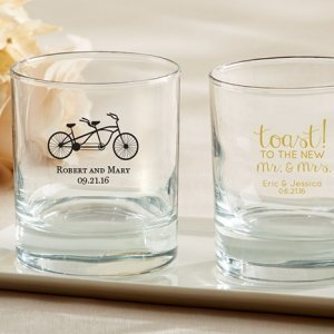 Personalized 9 oz. Rocks Glass Wedding Favors image