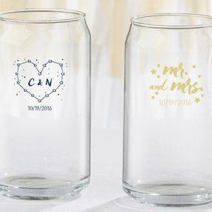 Personalized Under the Stars Can Glass Favors image