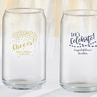 Personalized Party Time 16 oz Can Glass Favors