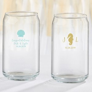 Seaside Escape Personalized 16 oz Can Glass image