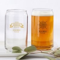 Personalized Travel and Adventure Can Glass
