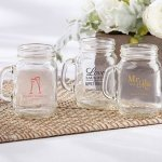 Personalized Wedding Mini Mason Mug