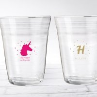 Enchanted Party Unicorn Personalized Party Cup Glass