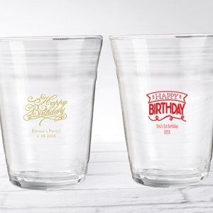 Personalized Happy Birthday Party Cup Glass Favors image