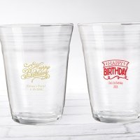 Personalized Happy Birthday Party Cup Glass Favors
