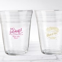 Personalized Party Time Party Cup Glass Favors