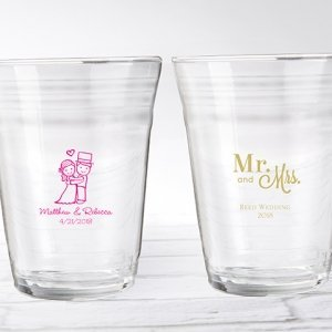 Personalized Wedding Design Party Cup Glass Favors image