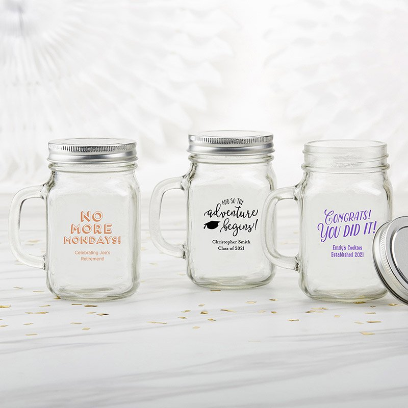 Personalized Celebration 12 oz Mason Jar Mug image