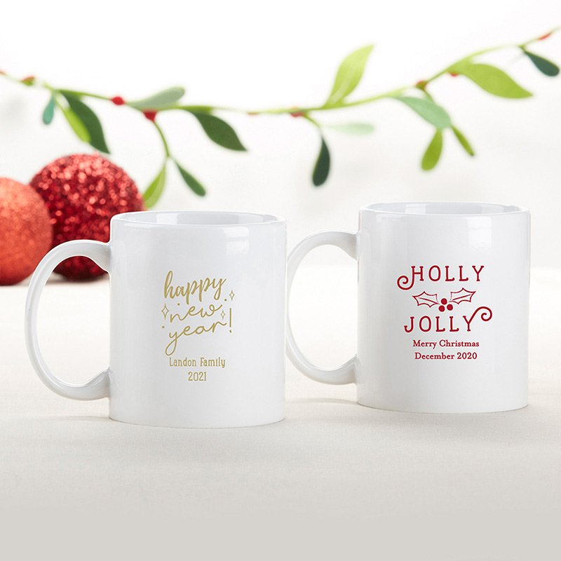 Personalized Holiday 11 oz White Coffee Mug image