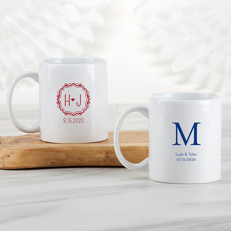Personalized Monogram 11 oz White Coffee Mug image