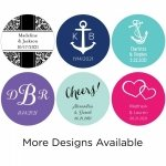 Personalized Round Stickers (Set of 48 - Many Options)